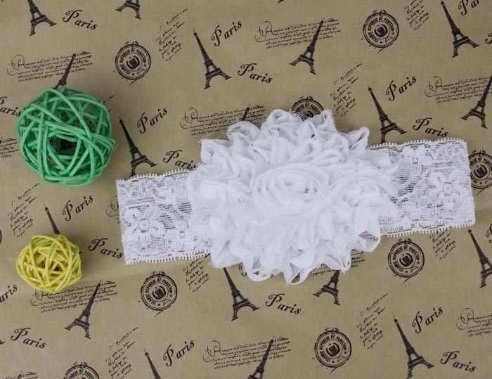 แฟชั่นลำลองลูกไม้เด็กทารกเด็กวัยหัดเดินลูกไม้ดอกไม้ผมวง Headband น่ารักสีขาว Daily ดีของขวัญจัดส่งฟรี W #51