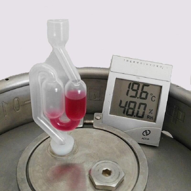 1 STÜCK S-form Air Lock Twin Blase Kunststoff Grommet Homebrew Gärung Wein New Wein Bier, Der Twin blase Gärung