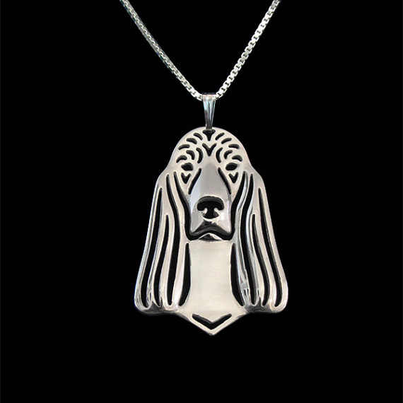 Irish Setter jewelry pendant and necklace women gold silver plated  necklace jewelry free ship 12pcs/lot