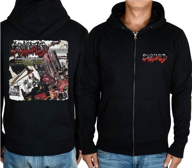11 видов конструкций на молнии Exhumed Rock hoodies оболочка куртка 3D бренд панк Темный металлический Свитшот saw sudadera спортивная одежда - Цвет: 9