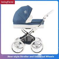 Babyfond 2 в 1 большая космическая коляска детская двухсторонняя push high прогулочная коляска тройной шок детская четырехколесная тележка