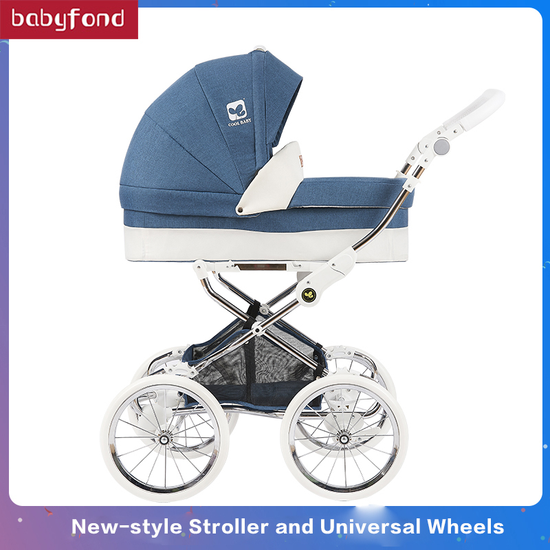 Babyfond 2 in 1 large space stroller baby two-way push high landscape trolley triple shock baby four-wheeled trolleyBabyfond 2 in 1 large space stroller baby two-way push high landscape trolley triple shock baby four-wheeled trolley