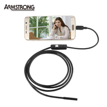 7mm lens inspection Pipe 1.5M Endoscope For Android Phone With OTG IP67 Waterproof  Side mirrors micro USB Camera La ENDOSCOPIA