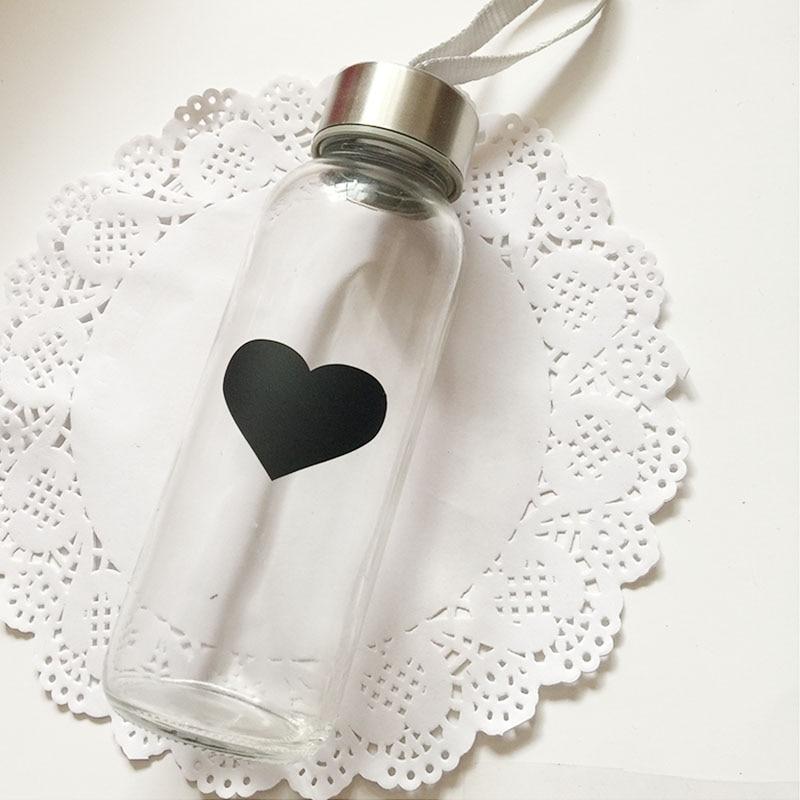 2016 гаряча продати 50шт чорне серце візерунок крейда ручка дошці наклейка чашка пляшки дзеркало декор наклейки теги етикетки кухонна банка стіна