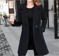Plus Size 5XL Double Breasted black red Long Jacket Female Coats Blazer Feminino Long Sleeve Women Suit Jackets Office Blazers