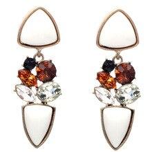 New Fashion Dangle Long Earrings Fashion Jewelry Charms Colorful Crystal Stone Long Drop Water Earrings For Women 2017 Girls