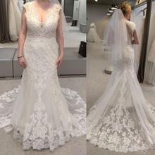Baroque Summer Stunning Fishtail v-Neck Wedding Dress
