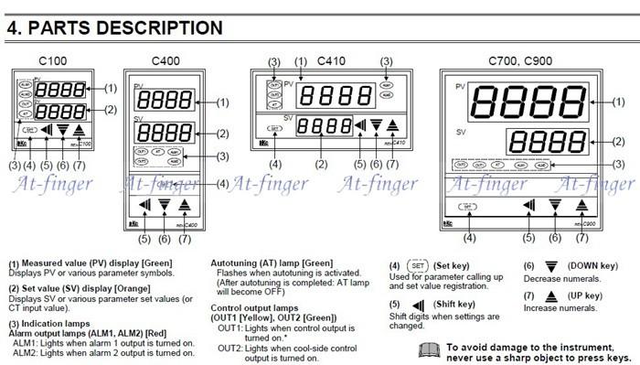 controlador de temperatura pid com termopar k e ssr-40a