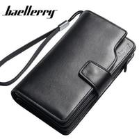 BAELLERRY Genuine Leather Wallet Men Wallet Portefeuille Homme Card Holder Male Cuzdan Cuzdan Letter Male Cuzdan Long Purse Gift