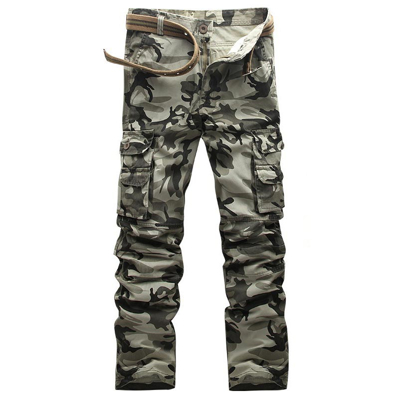 Tactical Pants City SWAT Combat Camo Jogger Military Army Male Men's Cotton Casual Many