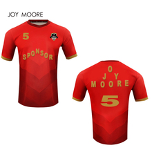 5a39d9442 JOY MOORE Design Full sublimation Custom Summer football shirt breathable  red