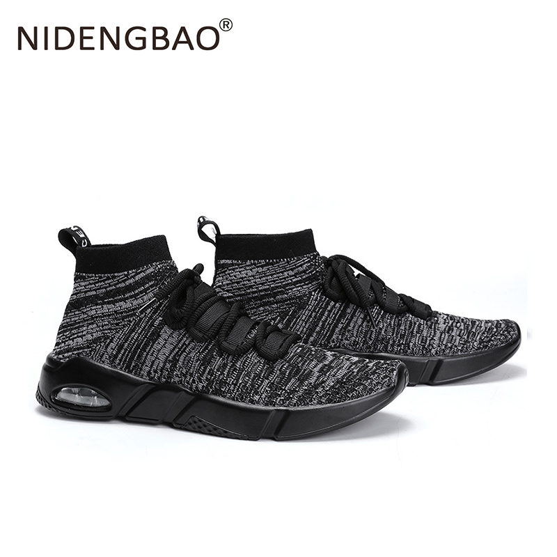 Underwear & Sleepwears Mens Running Shoes Outdoors Sport Shoes Breathable Mesh Sneakers Lightweight Sock Footwear Gray Red Black White Big Size 39-46 Online Discount