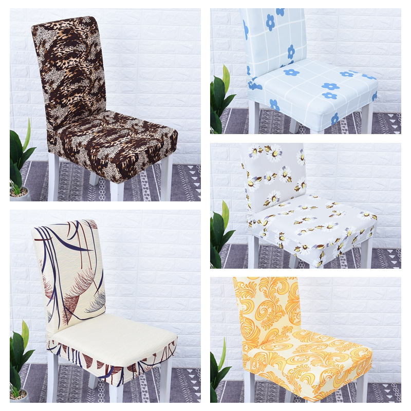 2019 Removable Computer Chair Covers Spandex With Backrest Seat Stretch Dining Wedding Linings Kitchen Chairs Covers For Banquet 1