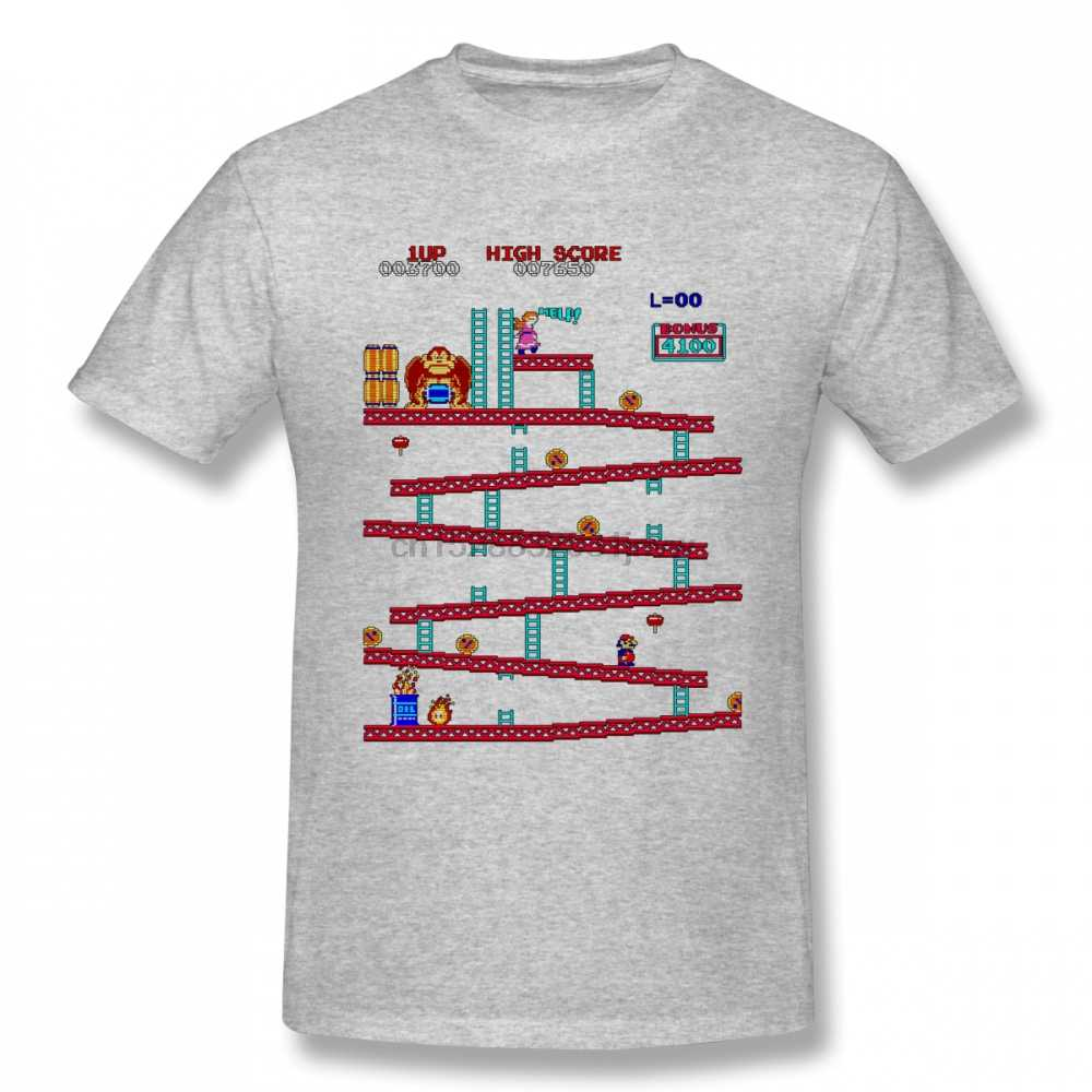 Donkey Kong Arcade T Shirt For Man Hip Hop Tee Round Neck S-6XL Tee