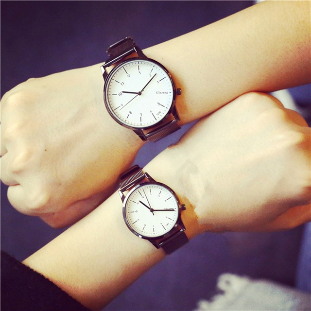 2018 New Korean Style Fashion Simple Candy Colored Lovers Watch Lemon Luxury Wom