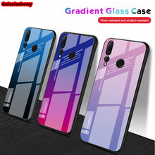 Case For Huawei Y6 Y7 Y5 Y9 Prime 2018 2019 Gradient Phone Cover For Honor 8X 7A DUA L22 7C AUM L41 Tempered Glass Case Shell(China)