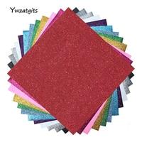 ywzatgits 12 sheets Heat Transfer Vinyl Heat Press Cut by Cutting Plotter DIY T shirt Garment Handmade Materials 082007370