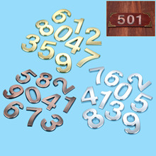 Home Hotel Door Number 100mm Height 0/1/2/3/4/5/6/7/8/9# Optional ABS Plastic Gold Color Digital House