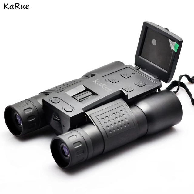 Special Offers KaRue FS-318 Digital Camera 2.0inch Screen  5MP CMOS 12x32 Binocular Camcorder Telescope  microSD / TF black Color free shipping