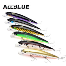 ALLBLUE Assorted Colors Fishing Wobbler 14.2g/110mm Suspend Minnow Crank Bass Fishing Lures With 6# Hooks peche isca artificial