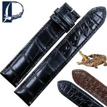 Pesno Superior Quality Crocodile Leather Watch Strap Black Brown 18.5mm Men Watch Accessories Watch Band