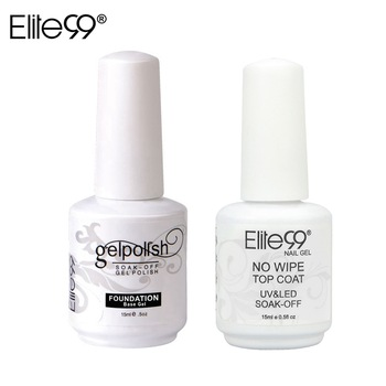 Elite99 15 ml Basis Mantel Foundation + KEINE Reinigung Top Mantel Kits Für Soak Off UV Nagel Gel Polish Primer kleber Lang Anhaltende Lack