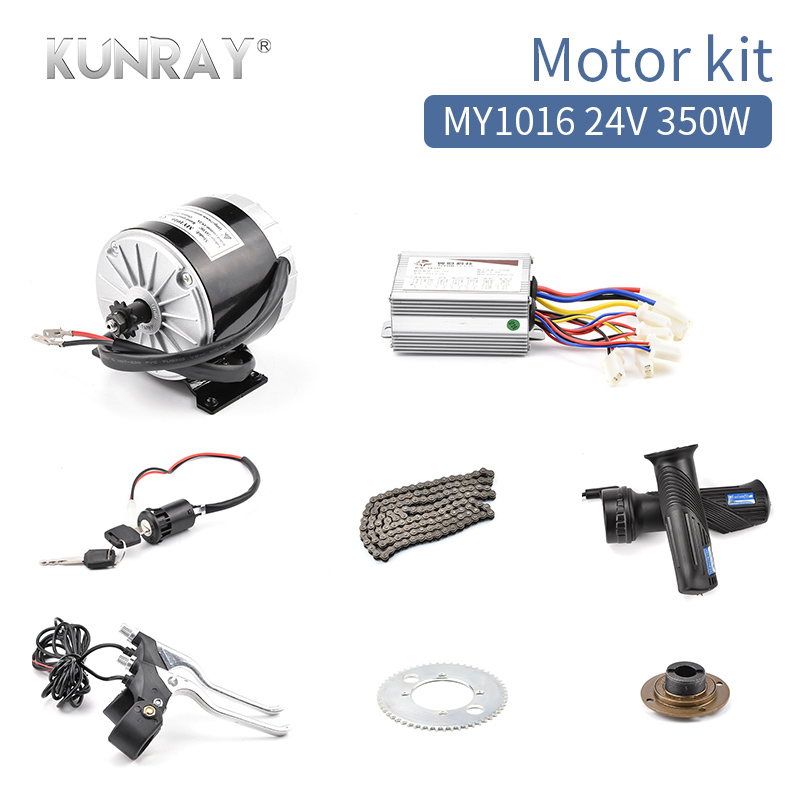 24V DC 350W DIY Electric Scooter Kit Electric Skateboard DIY Kit Motor E Bike Bicycle 16\u0026quot; 20