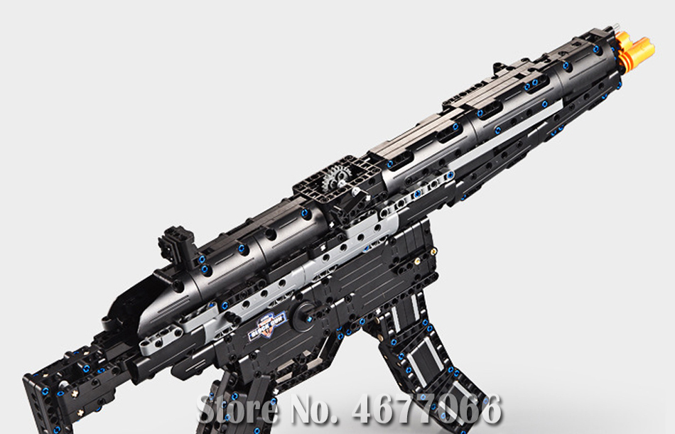 Legoed gun model building blocks p90 toy gun toy brick ak47 toy gun weapon legoed technic bricks lepin gun toys for boy 23