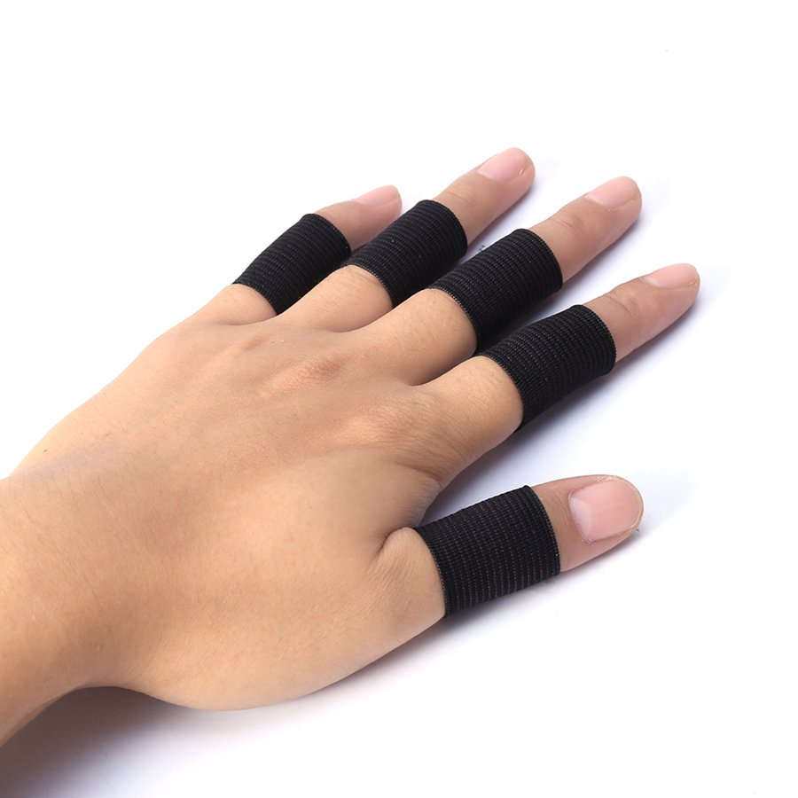 10Pcs Finger Protector Sleeve Support Basketball Sports Aid Arthritis Band Wraps Finger Sleeves 53000459