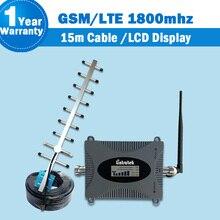 Lintratek DCS/LTE 1800 mhz Mobile Booster de Señal con Conector N Hembra 2G/4G 1800 Señal Amplificador de banda con Pantalla LCD S39