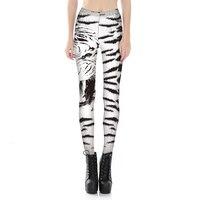 MWBAY 2017 Dame De Mode Slim Leggings Hanche Pantalon Pantalon Sexy Numérique Blanc Tigre Imprimer Fitness Leggings Dames Pantalon