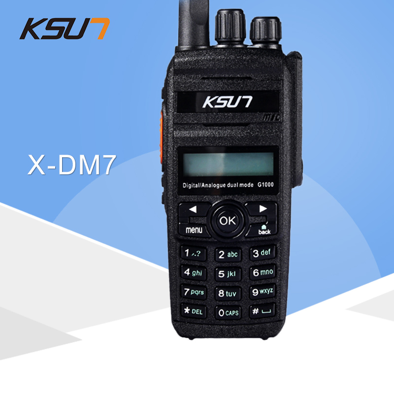 KSUN Digital Walkie Talkie 400-470MHz X-DM7 Protable Radio DMR Transmitter Digital Dual-Use Model Two Way RadioKSUN Digital Walkie Talkie 400-470MHz X-DM7 Protable Radio DMR Transmitter Digital Dual-Use Model Two Way Radio