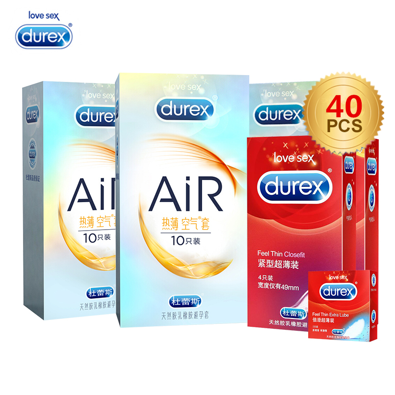 Durex 40/24/10pcs AiR Condoms Ultra Thin Super Sensitivity Condom Smooth Penis Sleeve Erotic Intimate Products Sex Toys for Men цена