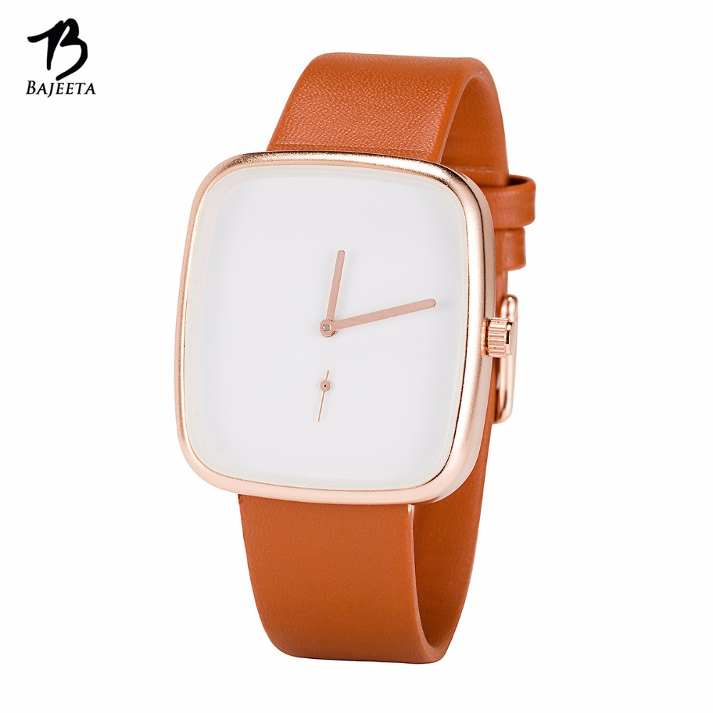 BAJEETA nouvelle arrivée Style Simple femmes montre mode robe en cuir élégant Quartz montre décontracté bracelet dame casual Rectangle horloge livraison directe 3