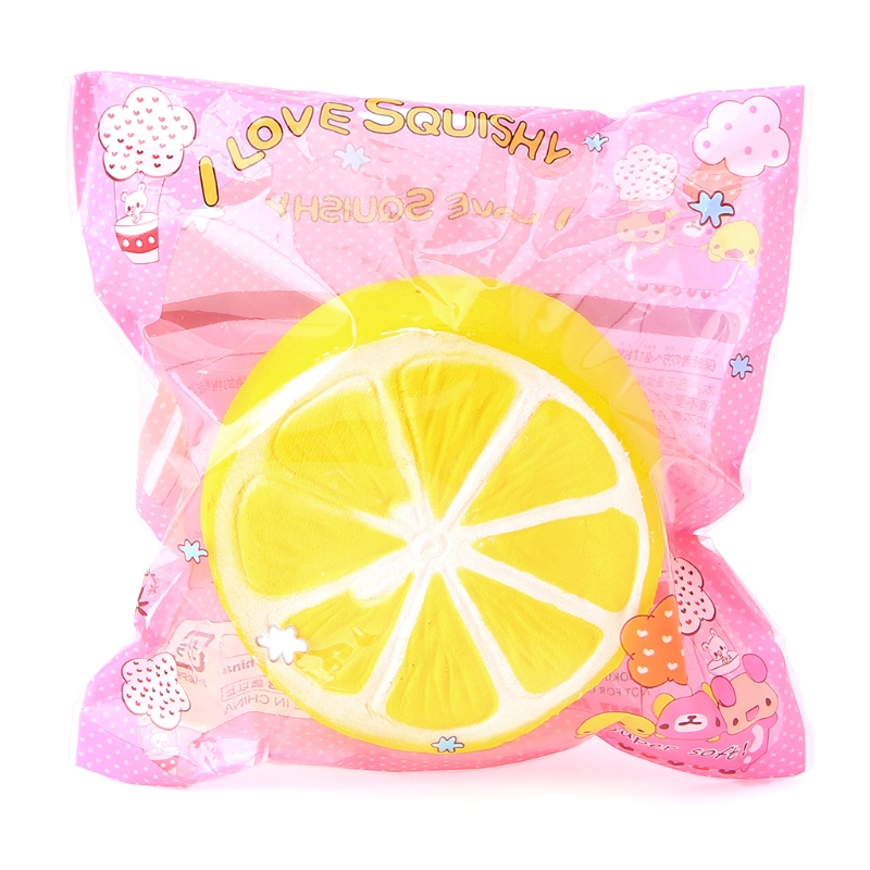 Slow Rising Squishy Toy Stress Relief Kawaii Cream Scented A Half of Lemon Charm