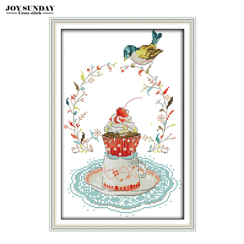 Sewing Machine Welcome Card Cartoon Counted Cross Stitch Kit DIY Handwork Paintings 14CT 11CT DMC Embroidery Kit Needlework Set Lahore