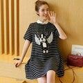 Fashion Casual Summer Plus Size XXL Women Clothing Short Sleeve Maternity Dress for Pregnant Women Dress Pregancy Clothes B23