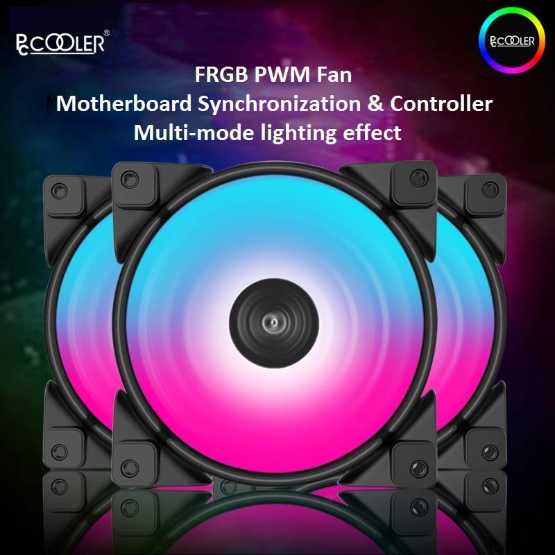 Pccooler 3 Pack 12cm 12V 5V FRGB Case PC Cooling Fan 4pin PWM Quiet 120mm computer