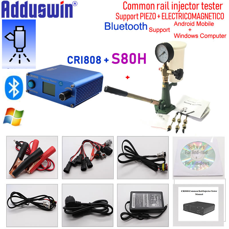 Buy Multifunction Common rail injector tester CRI808 and S60H or S80H Nozzle validator Nozzle tester Togehter