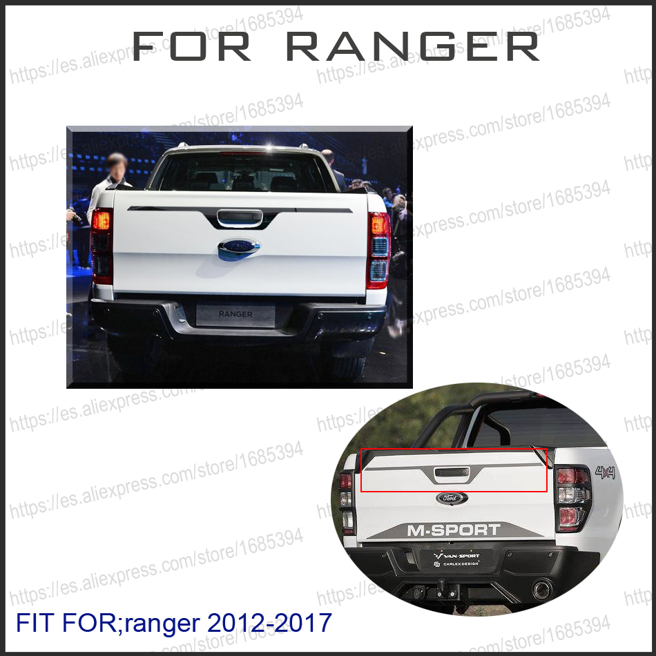2012-2017 Suitable Ford Ranger Accessories Tailgate Trim graphic vinyl sticker For Ford Ranger T6 T7 Car Styling Rangers window deflector for ford ranger injection black car wind deflector visor vent shade rain sun guard for ford ranger t6 2012 2014