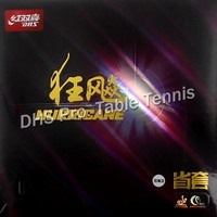 DHS Hurricane 3 Provincial Professional Upgeade Black Pips In Table Tennis PingPong Rubber With Sponge