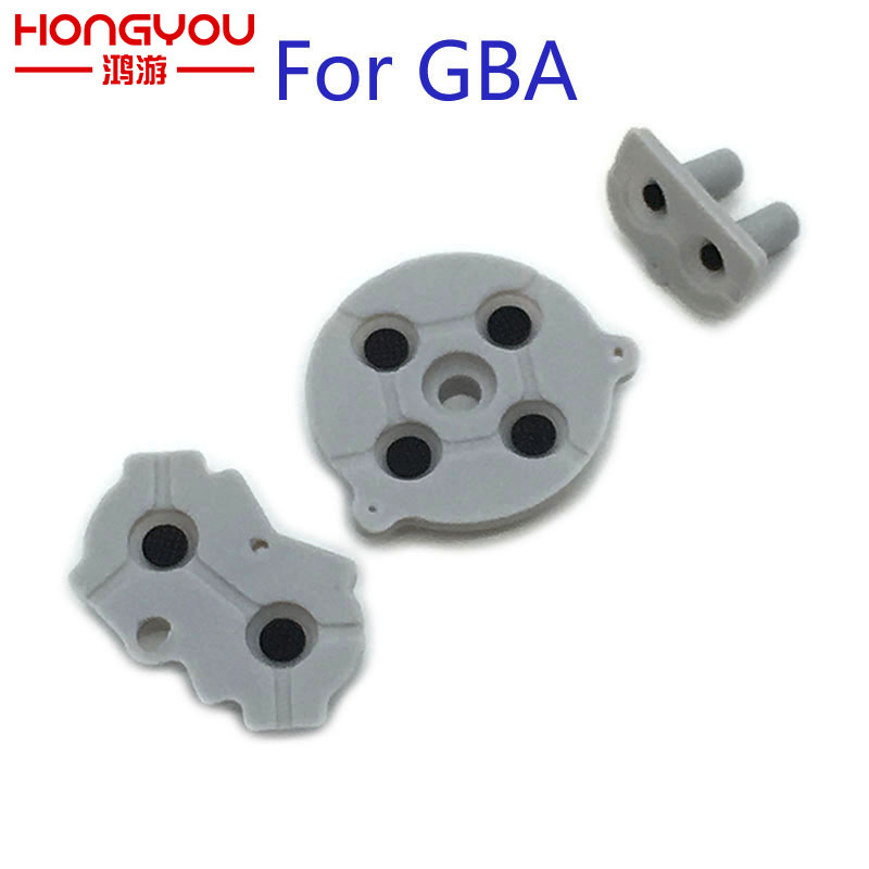 2Sets High Quality conductive rubber pads for Gameboy Advance for GBA console button silicone pads replacement rolsen resc 51s