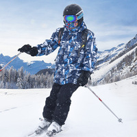 Winter Warm Ski Jacket Men Waterproof Snowboard Jacket Pants Hiking Hunting Windproof Skiing Suit Breathable Coat