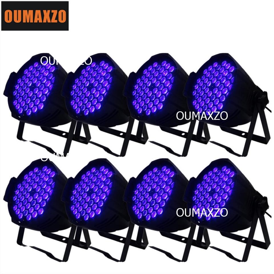 8pcs/lot UV light 54pcs 3W High power 54PCS*3W UV led par 64 stage light led blacklight Disco Stage lighting 54pcs*3W LED UV Par