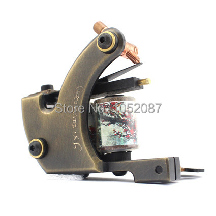 2017 NEW Copper Handmade Tattoo Machine Liner or Shader Dual 10 Wrap Coils for Tattoo Gun Supplies Free Shipping 2014 new free shipping dual display hk 809 with waistbelts machine for pedicure
