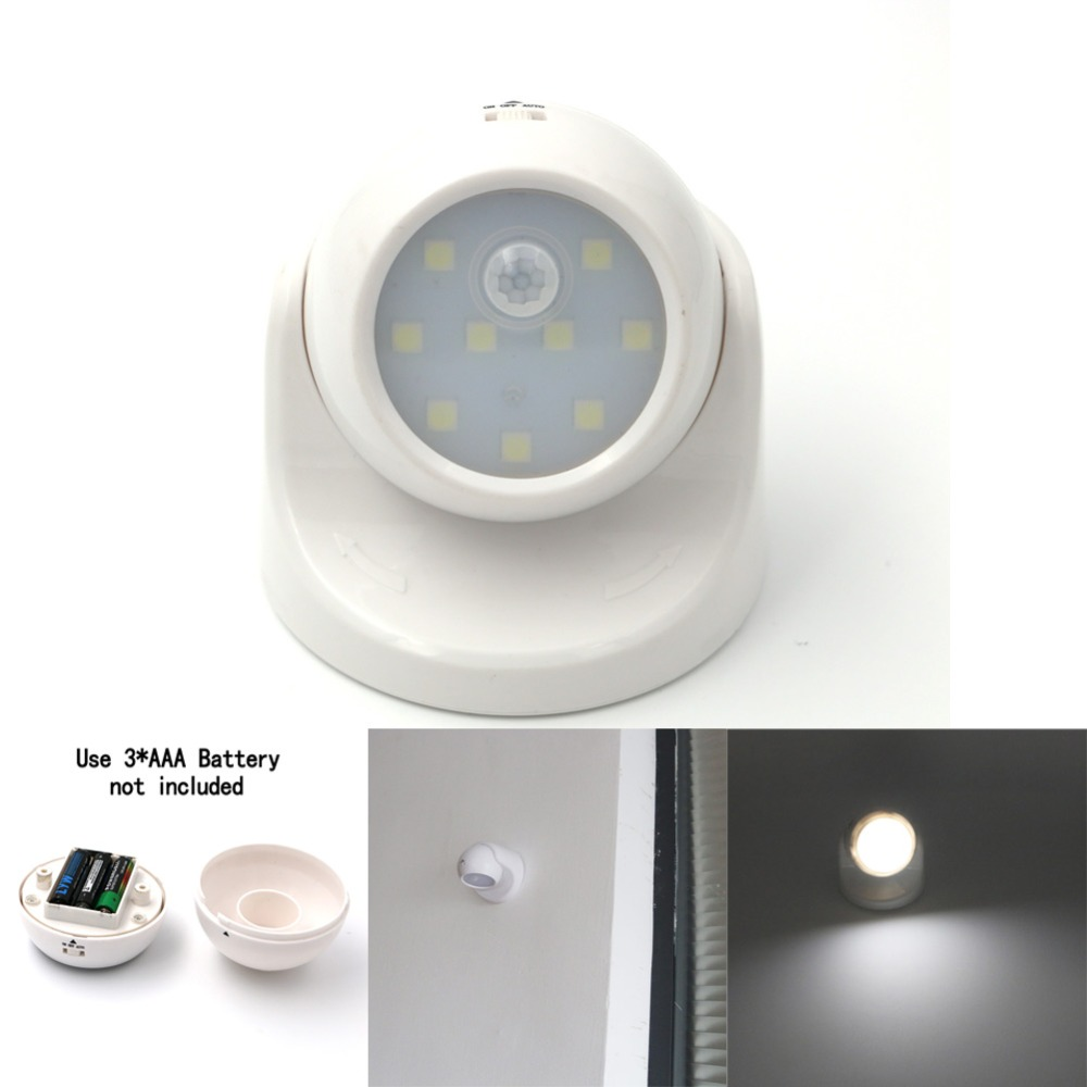 LightInBox Childrens Nightlight Auto PIR IR Infrared Detector Lamp LED Led Motion Sensor ...
