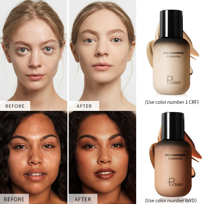 Waterproof Long Wear Soft Matte Foundation Base Makeup Full Coverage Face Foundation Liquid Concealer for Oily and Dry Skin ZL40 image
