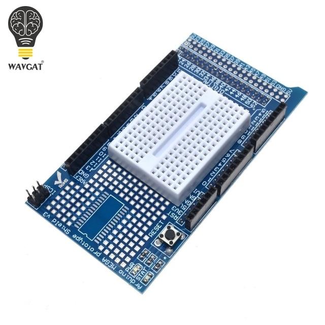 Плата разработки WAVGAT MEGA 2560 R3 Proto для прототипов, плата расширения V3.0 + макетная мини плата PCB на 170 точек связи для arduino «сделай сам»