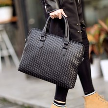 Tidog The new male cross braided bag handbag Briefcase Bag(China)