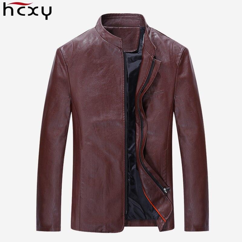 Brand Men s Leather Jacket Soft sheep Skin Coat Black Male Genuine Leather clothing Autumn Plus